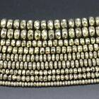"""Plated Hematite Faceted Pyrite color Rondelle Loose Beads 15"""""""