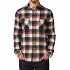 RVCA Shirts - RVCA Telltale Long Sleeve Shirt - Red Ochre