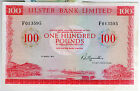 SCARCE 1973 1990 Ulster Bank Ltd belfast £100 banknotes real money notes