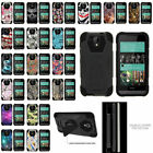 For HTC Desire 520 Hybrid Protective Dual Layer Case With Built-in Kickstand