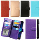 For Motorola Droid Turbo 2 Kinzie XT1585 Magnetic Card Wallet Cover Case + Pen