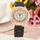 Womens Girls Fashion Quicksand Crystal Rhinestone Watch Silicone Quartz Watch