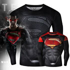 Marvel Superman Compression Workout T-shirt Cosplay Cycling Jersey Gym Sport
