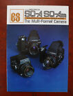 BRONICA SQ-A/SQ-AM SALES BROCHURE, IR100184F, 16 PAGES/186998