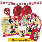Disney MINNIE MOUSE CAFE Birthday Party Range (Tableware Balloons & Decorations)