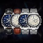 TEVISE Men's Fashion Watches Stainless Steel Mechanical Date Military Watch