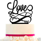 Cake Topper LOVE Custom Wedding with infinity and FREE STAND, Removable Spikes.