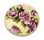 The Bead and Button Box - Wooden Purple Flower Design Buttons 30mm