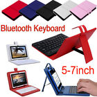 UNIVERSAL 5-7 INCH ANDROID PHONE BLUETOOTH KEYBOARD CASE LEATHER STAND COVER HOT