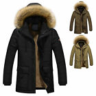 Men's Warm Down Cotton Jacket Fur Collar Thick Winter Hooded Coat Outwear Parka*