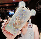 Glitter Bling Ring Holder Stand Soft Silicone Case Cover For iPhone 6/6s/7 Plus