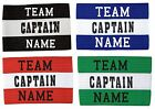 CAPTAIN ARMBAND with TEAM NAME - ADULT or JUNIOR - 4 COLOURS
