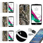 For LG K7 | LG Tribute 5 | LG Treasure TPU Case + Tempered Glass Tree Camouflage