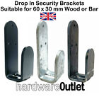 Drop In Security Brackets (Pair) 35 mm Opening - 40 x 5.0 mm Thick Mild Steel