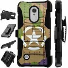 For LG / HTC Rugged Cover Holster Hybrid Case TANK SHEILD CAMO LuxGuard