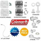 COLEMAN COOLER HINGES DRAIN PLUG LID STRAP HINGE CAP LATCH THERMOELECTRIC FAN