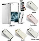 Full Protect Tempered Glass Screen Cover Clear TPU Case For iPhone 7 / 7 Plus