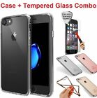 Full Protect Tempered Glass Screen Cover Clear TPU Case For...