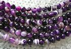 UKcheapest-Striped Purple Agate round faceted 6 8 10 12 14mm gemstone beads