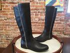 Dr Scholls Confess Dark Brown Whipstitch Riding Boots NEW
