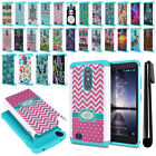 For ZTE Zmax Pro Carry Z981 Hybrid Bumper Shock Proof Hard TPU Case Cover + Pen