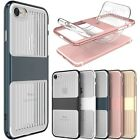 Slim Transparent TPU+PC Rubber Dual Layer Back Cover Case For iPhone 6 6S 7 Plus
