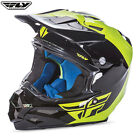 Fly F2 Carbon Motocross Enduro Quad Adult Helmet Black Hi-vis