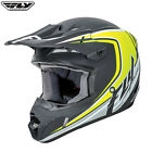 Fly Racing 2017 Full Speed MX Motocross Off Road Helmet Childrens Black Hi-vis