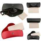 PU Leather Eyeglasses Presbyopia Glasses Box Portable Protector Holder Clam Case