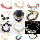 Charm Chunky Crystal Statement Bib Chain Choker Pendant Necklace Jewelry New HYG