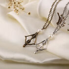 The Hungary Games Bow Pendant Men Women Necklace Valentines Jewelry Gift