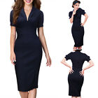 Plus Size Women's Office Formal Business Party Sheath Tunic Pencil Midi Dress