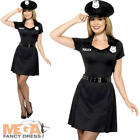 Constable Ladies Fancy Dress Police Officer NYPD Cop Uniform Women Adult Costume