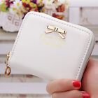 New Women's Fashion Leather Wallet Card Holder Zip Coin Purse Mini Handbag