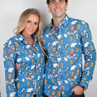 Christmas Funky Novelty Shirts - Office Party - Unisex - Santa Shirt - M L XL