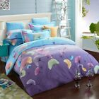 New Purple Queen/King Size Bed COTTON Quilt/Duvet Cover Set Doona Covers A104