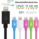 USB Lightning Cable Lead Apple MFI 3.5MM DIA for iPhone 6 6s Plus 5 5S iPad iPod