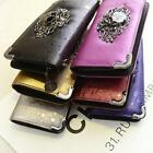 2015 New Womens Long Design Purses Vintage Punk Wallet Skull Day Clutch Bag - LD