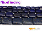 Blue Lapis Lazuli Rectangle Stone Beads For Jewelry Making Loose Bead Strand 15""