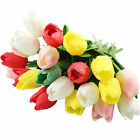 1/6/12pcs Latex Real Touch Tulip Flower For Wedding Bouquet Home Decor Colours