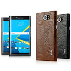 IMAK Ruiyi Series PU Leather Crocodile Shockproof Cover Case For Blackberry Priv