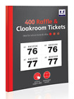 1 - 400 RAFFLE AND CLOAKROOM TICKETS (Colour, Tickets, Raffle, Cloakroom)