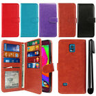 For Samsung Galaxy S5 Sport G860 Magnetic Card Holder Wallet Cover Case + Pen