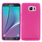 For Samsung Galaxy Note 5 Leather Slim Grip Case Phone Cover Accessory