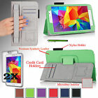 """PU Leather Case Cover Stand For Samsung Galaxy Tab 4 7.0"""" w/ Hand Strap + Bundle"""