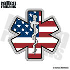 Star of Life American Flag Decal USA Paramedic EMT EMS Gloss Sticker WX4