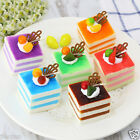 Cute Simulation Squishy Fake Food PU Kitchen Husehold Decor Square Cake Gift