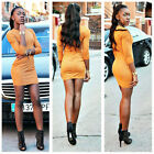 Lady's Faux Suede Bodycon party Dress 2016 New Ladies Fall Long Sleeve Casual