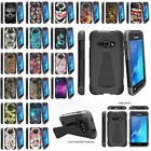 For Samsung Galaxy J1 J120 | Amp 2 | Express 3 Dual Layer Shell Shock Case Stand