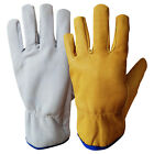 Leather Drivers Gloves  Lorry Work Gloves Safety Lined DIY Gloves